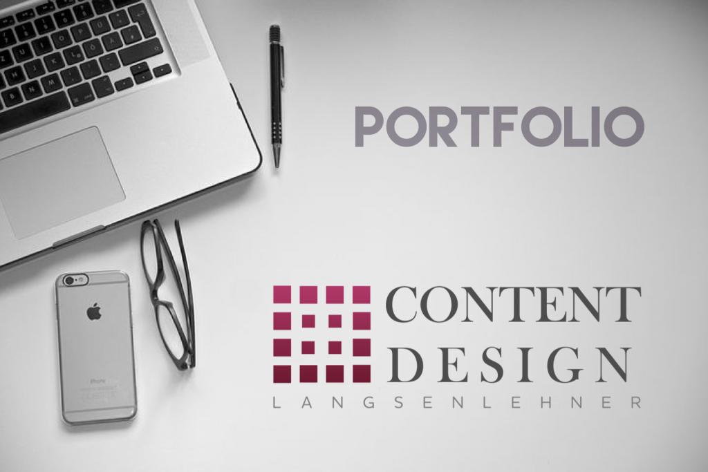 Portfolio mit Logo