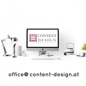 Kontakt: office@content-design.at